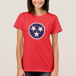 テネシー州の州の旗のグランジなナッシュビル愛 Tシャツ
