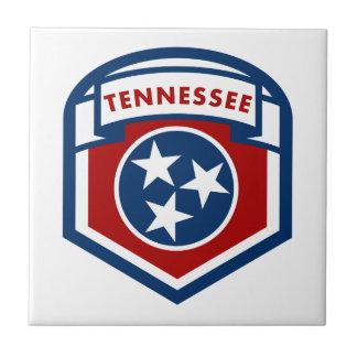 テネシー州の州の旗の頂上の盾のスタイル タイル