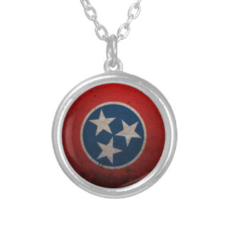 テネシー州の州の旗 シルバープレートネックレス