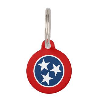テネシー州の州の旗 ペット ネームタグ