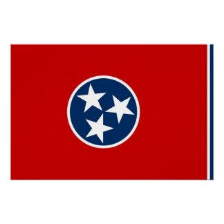 テネシー州の旗が付いている愛国心が強いポスター ポスター