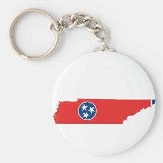 テネシー州の旗の地図 キーホルダー