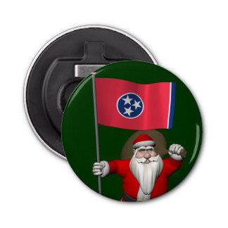 テネシー州の旗を持つサンタクロース 栓抜き