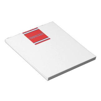 テネシー州の赤のメモ帳 ノートパッド