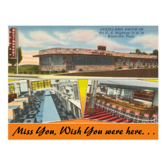 テネシー州のDixielandのドライブ・イン、Knoxville ポストカード