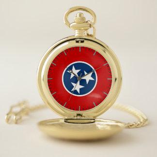 テネシー州、米国の愛国心が強い壊中時計の旗 ポケットウォッチ