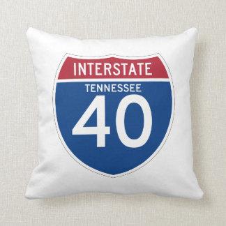 テネシー州TN I-40の州間幹線道路の盾- クッション