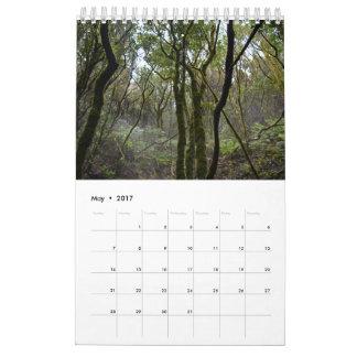 テネリフェ島のカレンダーの2017の森林 カレンダー