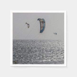 テネリフェ島の凧のサーファー スタンダードカクテルナプキン