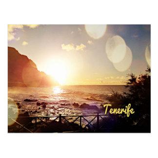 テネリフェ島の夕べライト ポストカード