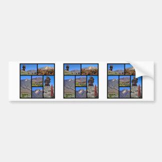 テネリフェ島の山Teideの多数の写真 バンパーステッカー