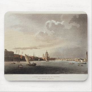 テムズからのロンドン、1809年の眺め マウスパッド
