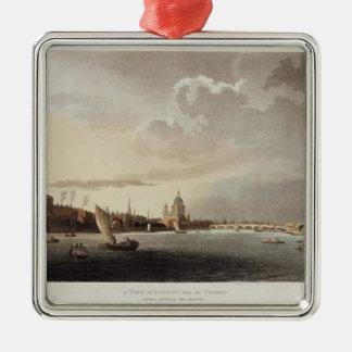 テムズからのロンドン、1809年の眺め メタルオーナメント