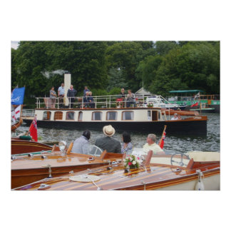 テムズの蒸気の舟のHenley ポスター