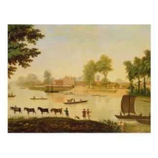 テムズ川のSheppertonの眺め、後 ポストカード
