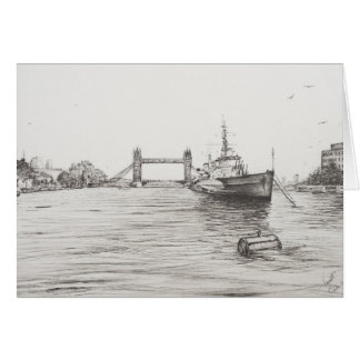 テムズ川London.2006のHMSベルファスト カード