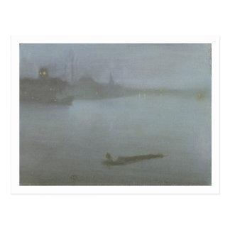 テムズ-青および銀、c.1872/8 (oiのノクターン ポストカード