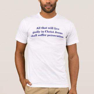 テモテの2 3:12、14-15 Tシャツ
