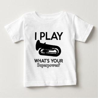 テューバのデザイン ベビーTシャツ