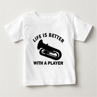 テューバのベクトルデザイン ベビーTシャツ