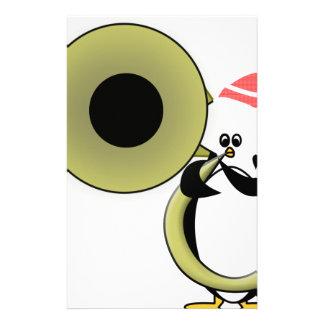 テューバを持つベビーのペンギン 便箋
