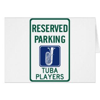 テューバプレーヤーの駐車 カード