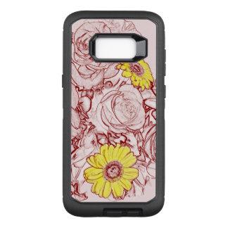 テラコッタは花束|の花の輪郭を研ぎました オッターボックスディフェンダーSamsung GALAXY S8+ ケース