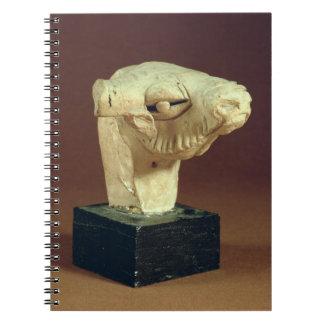 テラコッタラクダの頭部、Mohenjodaro、2300-1750紀元前に ノートブック