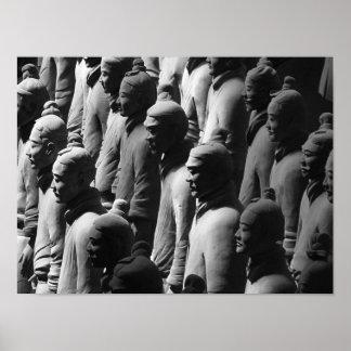 テラコッタ戦士の西安の中国の写真撮影の写真 ポスター