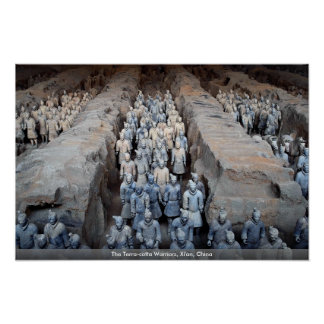 テラコッタ戦士、Xi'anの中国 ポスター