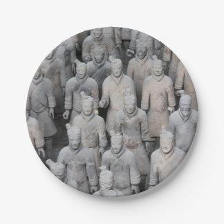 テラコッタ軍隊の紙皿 ペーパープレート