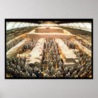 テラコッタ軍隊、秦、210紀元前に ポスター