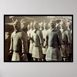 テラコッタ軍隊、秦、210紀元前に; 戦士 ポスター