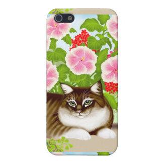 テラスのジャングルのiPhoneの場合のトラネコ iPhone 5 ケース