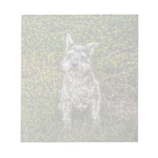 テリアのシュナウツァーペット犬恋人の犬の品種 ノートパッド