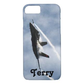 テリーのためのF/A-18戦闘機の飛行機のエア・ショー iPhone 8/7ケース