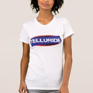 テルル化物のロゴの青 Tシャツ