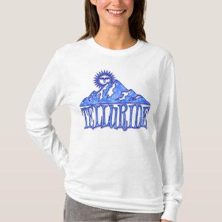 テルル化物の雪片山のロゴ Tシャツ