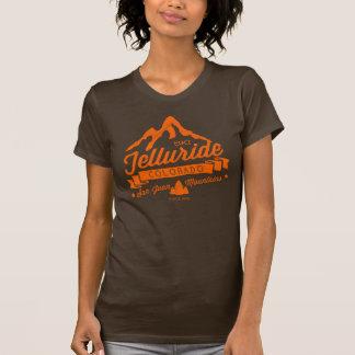 テルル化物山のヴィンテージのオレンジ Tシャツ