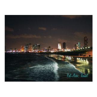 テル・アビブ、イスラエル共和国の夜 ポストカード
