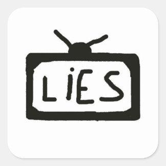 テレビのうそ-ステッカー スクエアシール