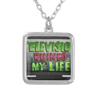 テレビは台無しにしました私の生命(YaWNMoWeR)を シルバープレートネックレス