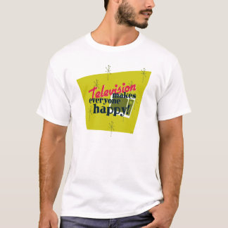 テレビは皆を幸せにさせます! 収穫の金ゴールド Tシャツ