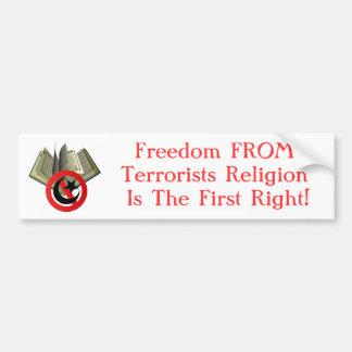 テロリストの宗教からの自由 バンパーステッカー