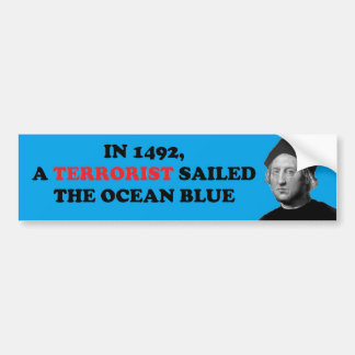 テロリストはオーシャンブルーを航海しました バンパーステッカー