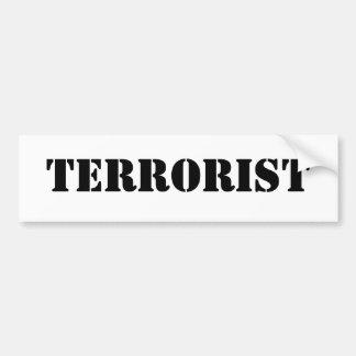 テロリスト バンパーステッカー