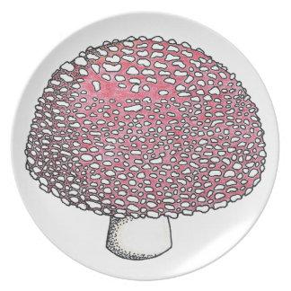 テングタケ属のきのこ菌類Shroom プレート