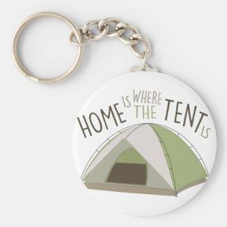 テントがあるところ キーホルダー