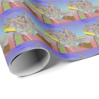 テントの抽象デザイン ラッピングペーパー