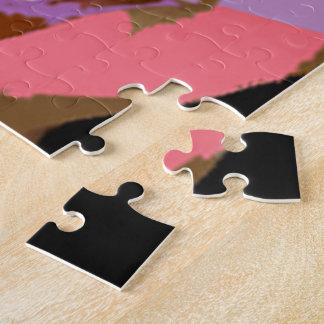 テンプレートのブランクはあなた自身の写真のイメージJPG JEPGを加えます ジグソーパズル